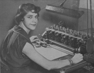 "Genevieve Dixon worked as a mathematical ""computer"" for a Buffalo, New York, aircraft company."