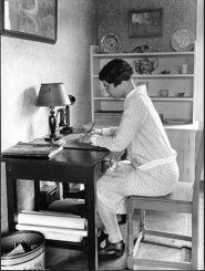 Woman writing, early 1920s