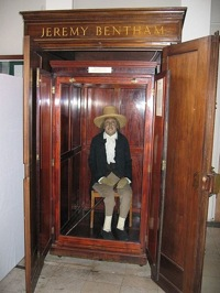 Jeremy Bentham's auto-icon, photo by Michael Reeve