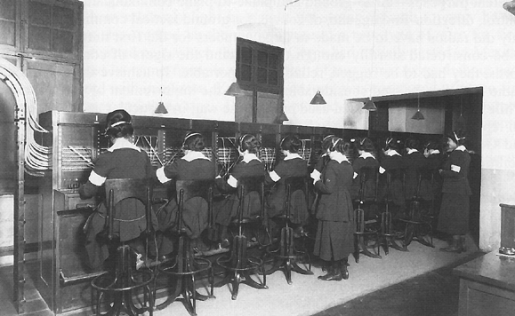 WWI telephone operators, aka 'Hello Girls'
