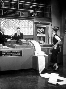Computer gone haywire, from the movie Desk Set (1957)