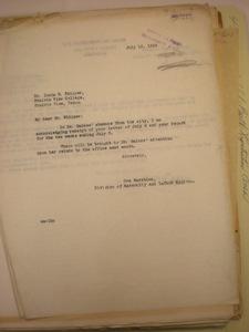 Ora Marshino to Ionia R. Whipper, Prairie View, Texas, July 12, 1928